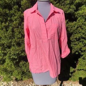 Coral pink 100% Cotton Shirt